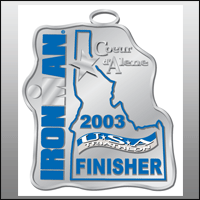 Ironman Coeur d'Alene Finisher Medal