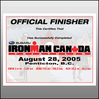 Ironman Canada Finisher Certificate